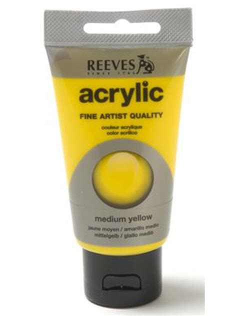 acrylic paint yellow papertree reeves acrylic paint medium yellow