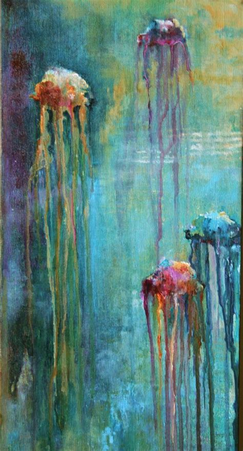 acrylic paint jellyfish jellyfish acrylic on canvas beautiful