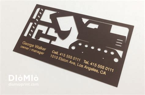card equipment excavator business cards diomioprint