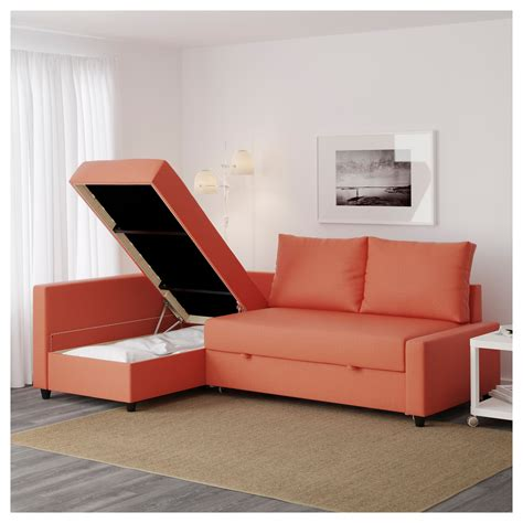 sofa bed and storage friheten corner sofa bed with storage skiftebo orange