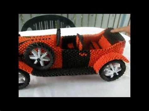 3d origami car how did create the origami green car 3d