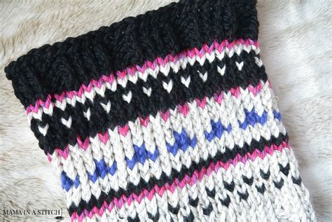 fair isle cowl knitting pattern alpine heights knit fair isle cowl in a stitch