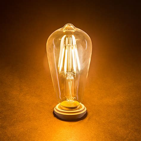 led vintage light bulbs st18 led filament bulb 35 watt equivalent vintage light