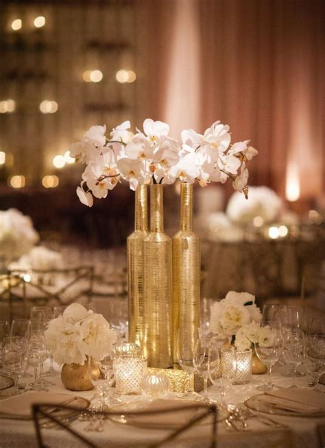 gold and white decorations picture of exquisite gold and white wedding ideas