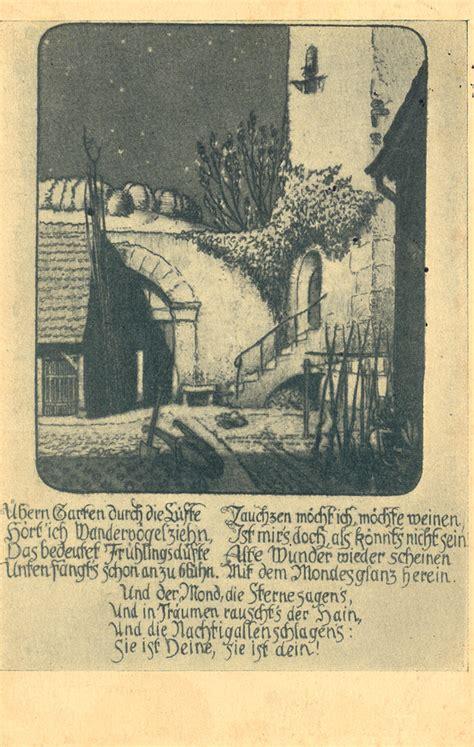 Der Alte Garten Eichendorff by Das Goethezeitportal 187 Eichendorff Motive Auf Postkarten