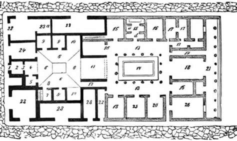 house of the vettii floor plan plan of the house of the vettii www imgkid the