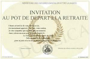 modele invitation pour un pot de depart en retraite document