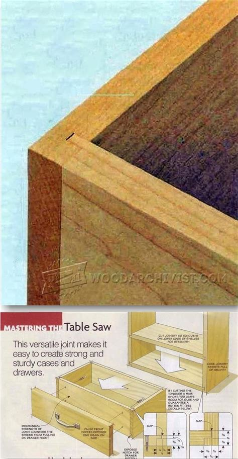 joinery techniques woodworking 1599 tongue and dado joint drawer construction