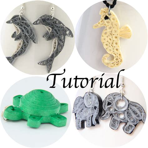 quilled jewelry tutorials step by step tutorial for paper quilled animal jewelry pdf dolphin elephant