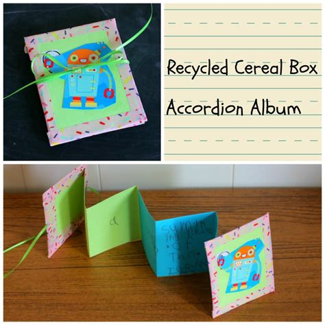 cereal box crafts for recycled craft cereal box accordion album 183 kix cereal