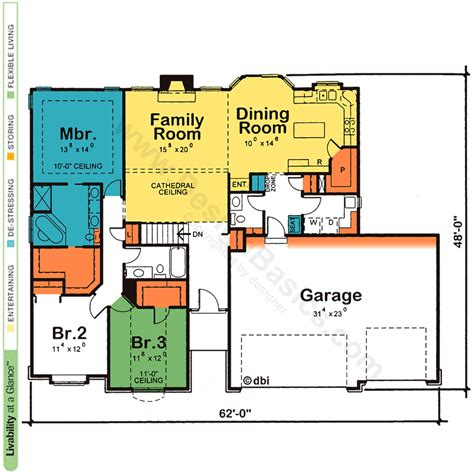 floor plans for one story homes floor plan for single story home distinctive 42035ml one