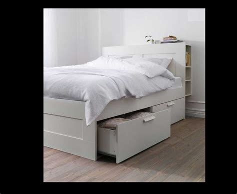 bed frame with headboard and storage 50 percent discount brimnes size bed frame with