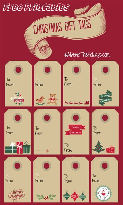 gift labels print free free printable labels always the holidays