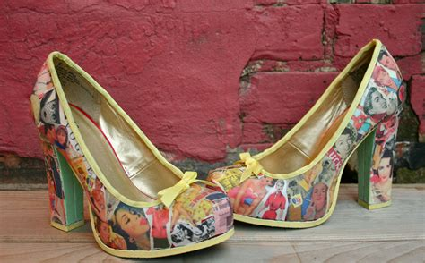 decoupage shoes with paper diy decoupage vintage vibes heel lilbo gnomie