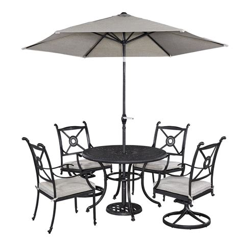 5 patio set with umbrella home styles athens 5 patio dining set with umbrella