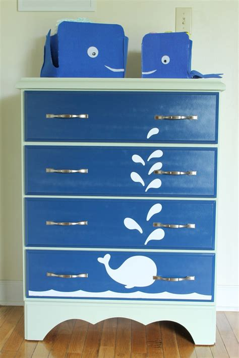 spray painting dresser whale painted dresser furniture spray paint projects