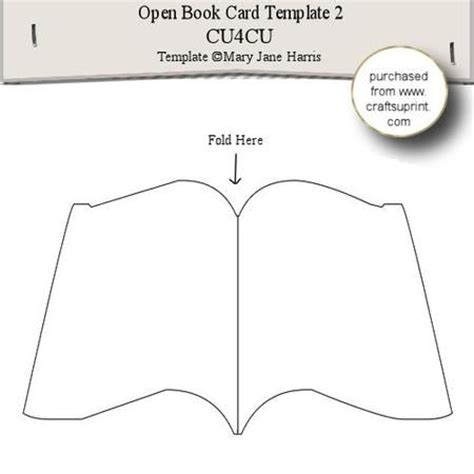 how to make shaped cards open book card template 2 on craftsuprint designed by