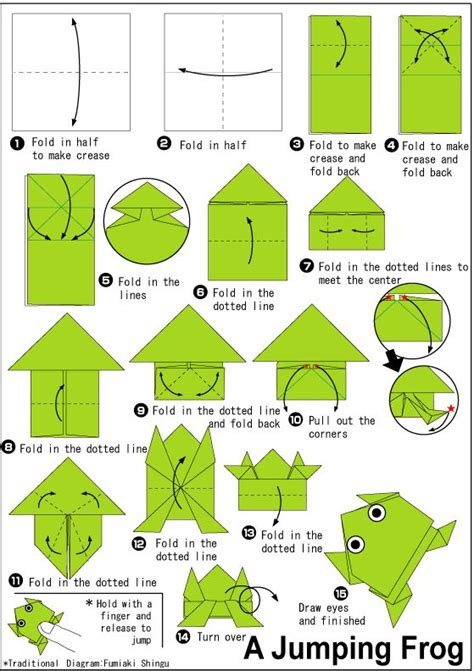 origami paper size template 25 unique origami frog ideas on jumping frog