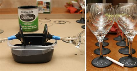 diy chalk paint wine glasses how to make personalized chalkboard wine glasses diy