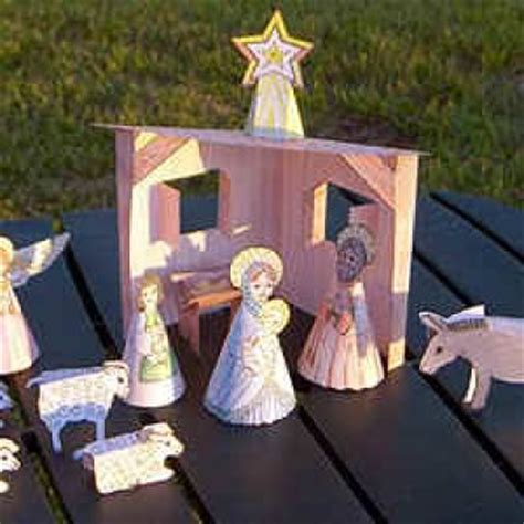 nativity paper craft free printable nativity crafts tip junkie