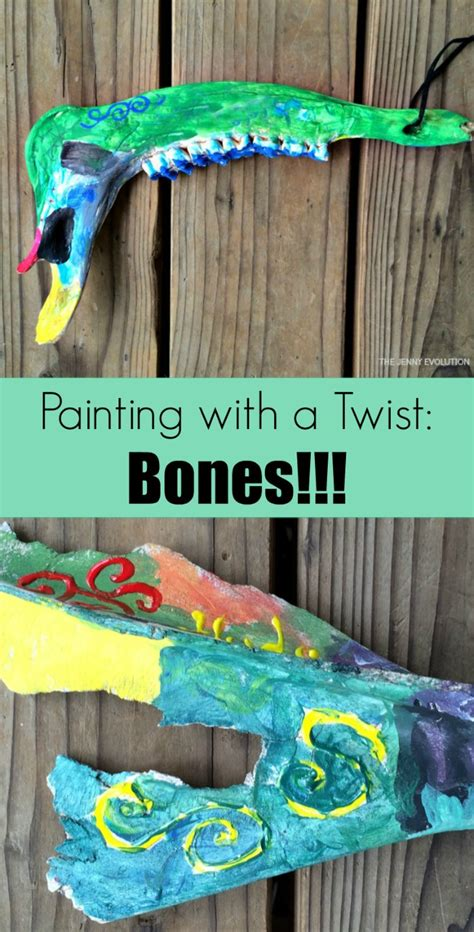 painting with a twist paint used paint bones painting with a twist the evolution