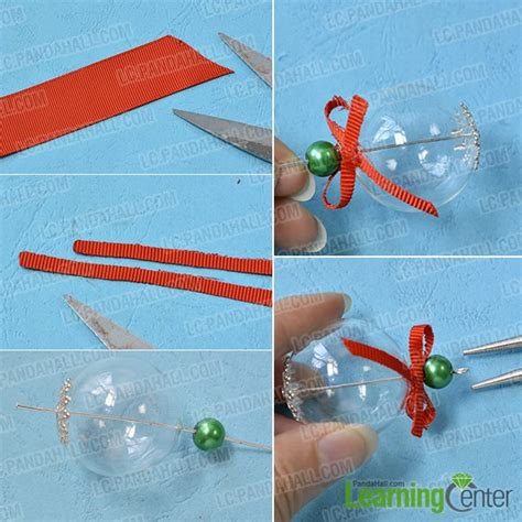ribbon bead tree ornaments how to make easy tree ornament with glass
