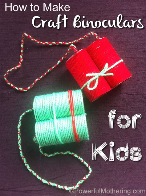 how to make kid crafts how to make craft binoculars for
