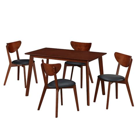 wood table and chairs modern wood dining room table and chair 5 set