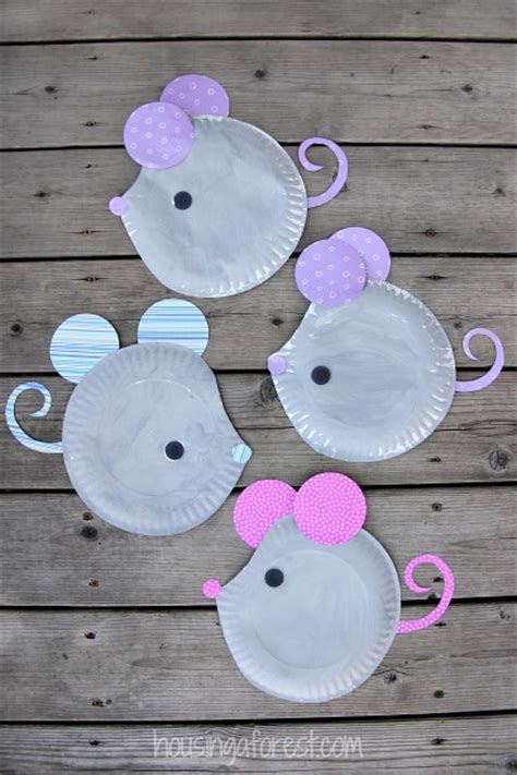 mouse paper craft paper plate mouse craft housing a forest