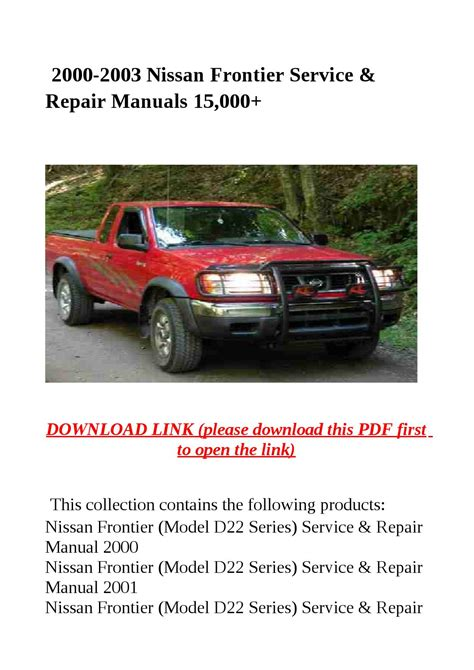 car maintenance manuals 2003 nissan frontier electronic valve timing service manual pdf 2003 nissan frontier manual 2003 2004 2005 nissan frontier service repair