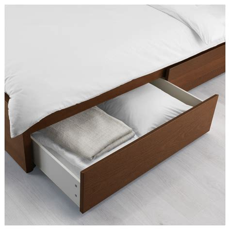 malm bed frame with box malm bed storage box for high bed frame brown stained ash
