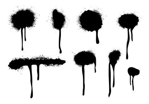 spray painter vector spraypaint drips vectors free vector stock graphics images