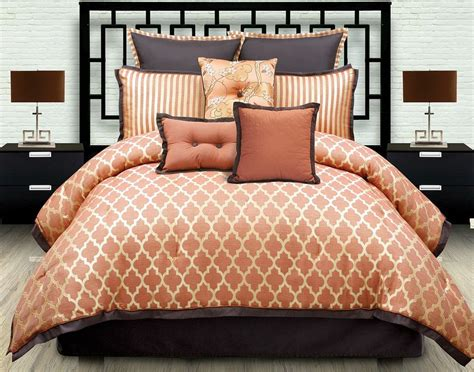 orange comforter sets king burnt orange comforter set 8229