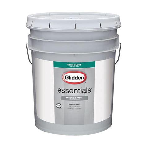 home depot semi gloss paint colors glidden essentials 5 gal white semi gloss interior paint