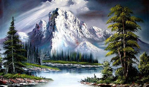 bob ross paints new the of writing about the of painting literary hub