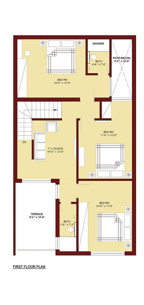 3 Bed 2 Bath House Plans 100 sq m home plan 5 marla info 360
