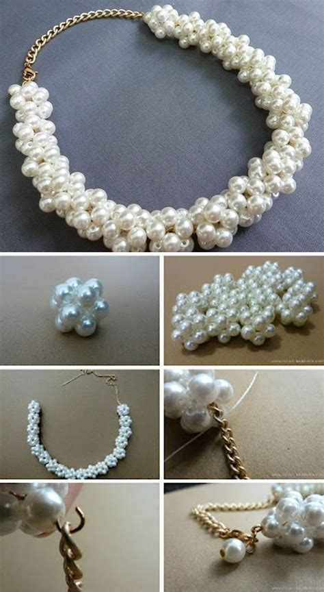 pearling beading pearl necklace diy diy crafting