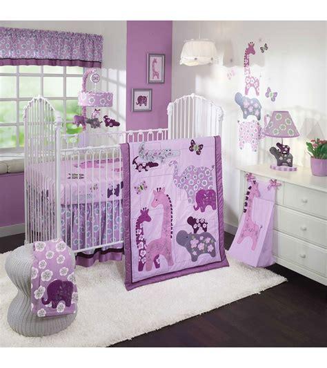 lambs and crib bedding lambs lavender jungle 4 crib bedding set