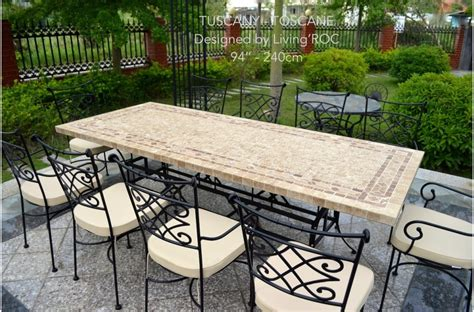 italian patio furniture 78 quot outdoor patio dining table italian mosaic marble