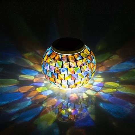 solar mosaic garden lights aliexpress buy solar powered mosaic glass