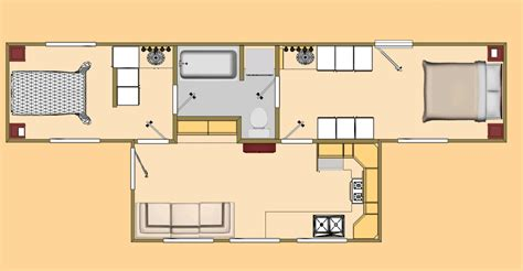 shipping containers homes floor plans the big t 480 sq ft shipping container floor plan