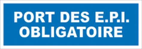 sop007 port des epi obligatoire obligation signalisation industrielle