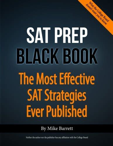 sat prep black book the most effective sat strategies published 9781481019330 28 sat math lessons to improve your score in
