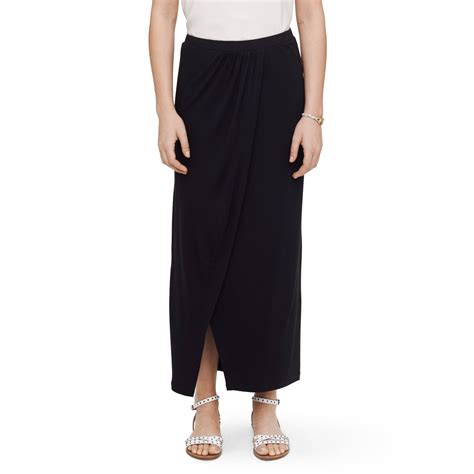 black knit maxi skirt club monaco knit maxi skirt in black lyst