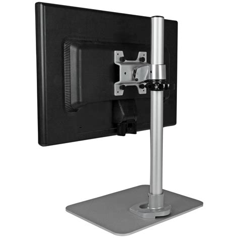standing desk monitor mount startech single monitor stand silver