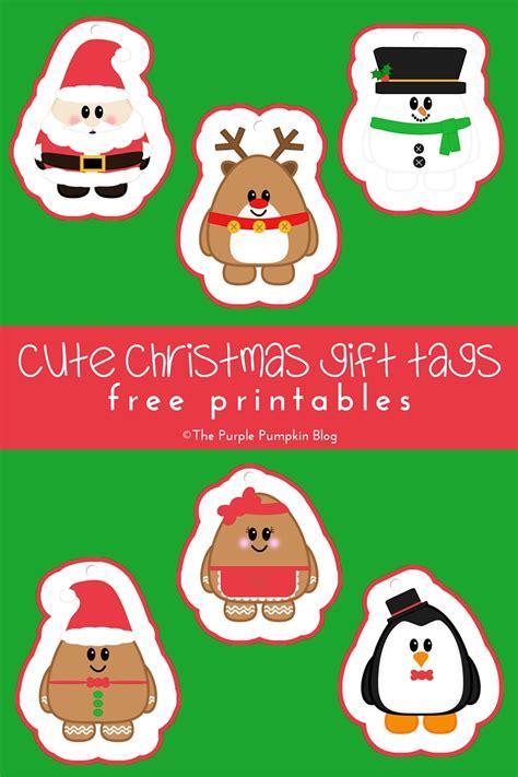 Cute Christmas Gift Tags Free Printables 187 The Purple