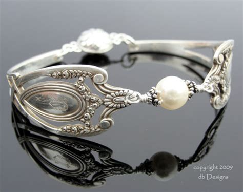 how to make silver spoon jewelry lunt monticello spoon bracelet with pearl