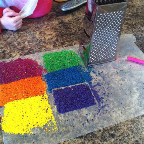 wax paper crayon craft cheap grater way to shave crayons for melted crayon