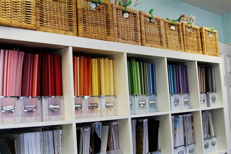 how to store craft paper craft room tour organizational storage ideas