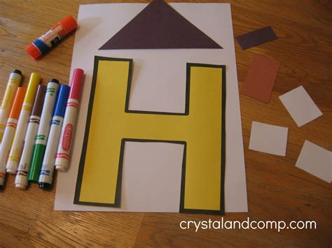 house crafts for letter of the week h alphabet activities for preschoolers
